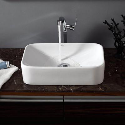 KRAUS Vessel Sink in White