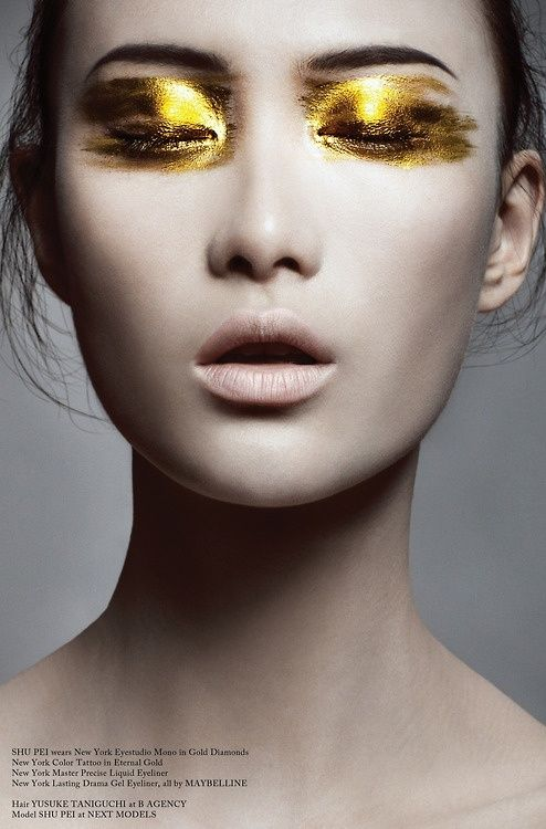 Stunning gold eyeshadow by firetriniti