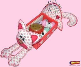 Blog do passo a passo: caixa de costura gatinho passo a passo pap molde