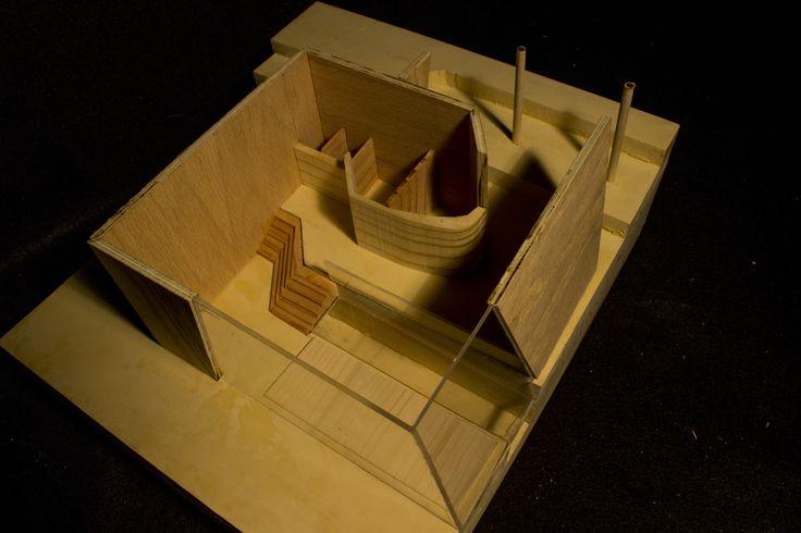 swimming pool house, wood model, summer 2014 , Maria Ganza Degtyareva (Vaghani)