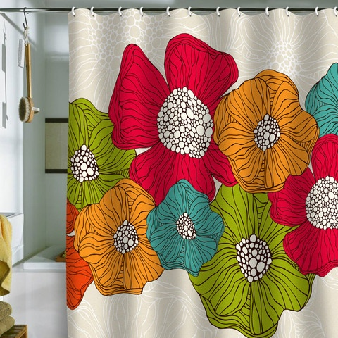 Valentina Ramos Flowers Shower Curtain
