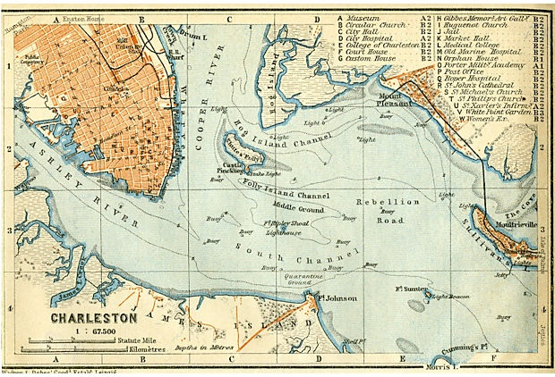 Map Of Charleston 1909
