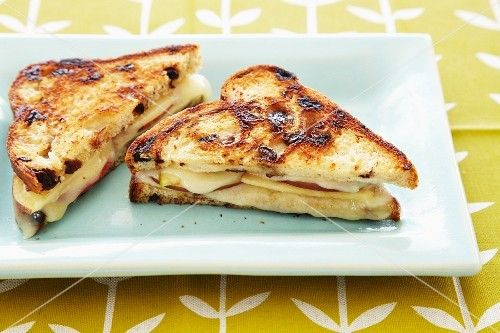 ... Grilled Havarti Cheese and Sliced Fuji Apple Sandwich on Cinnamon