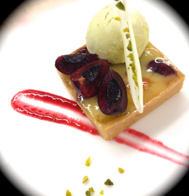 Bing Cherry Tart & Pistachio Ice Cream | Culinary Delights | Pinterest