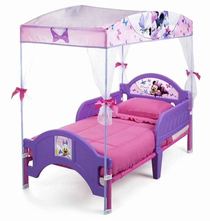 Disney Minnie Mouse Canopy Toddler Bed Girls Bedroom Furniture Kids B