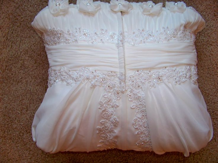 Wedding dress upcycled backside be sure to see the front side and