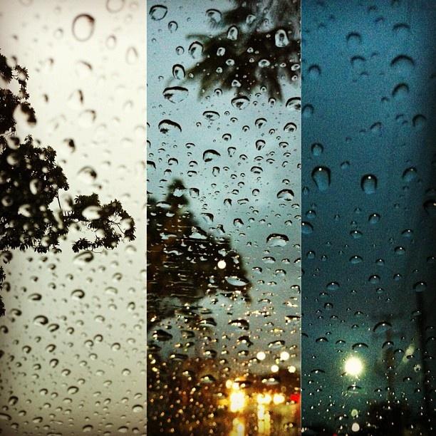 lluvia captada en tres diferentes partes de la ciudad