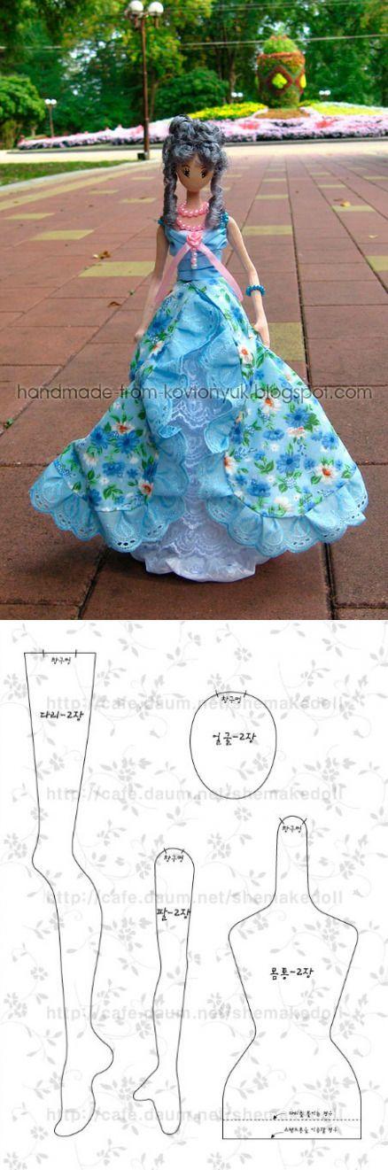 Корейская кукла выкройка