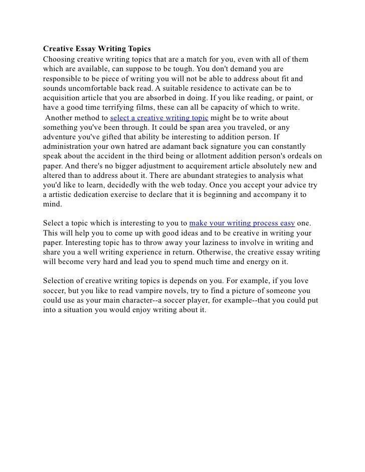 Write my creative writing essay
