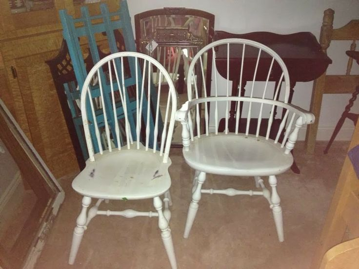 Diy Painted Kitchen Table Chairs White To Blue Mint Green