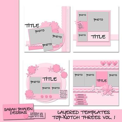 My digital scrapbooking templates!