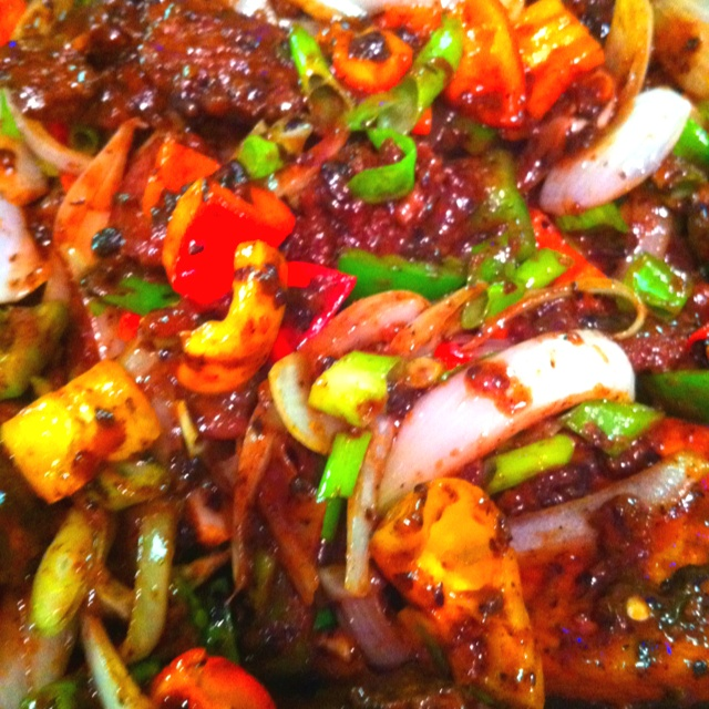 Rice Cakes With Chili Paste, Fermented Black Bean, And ...
