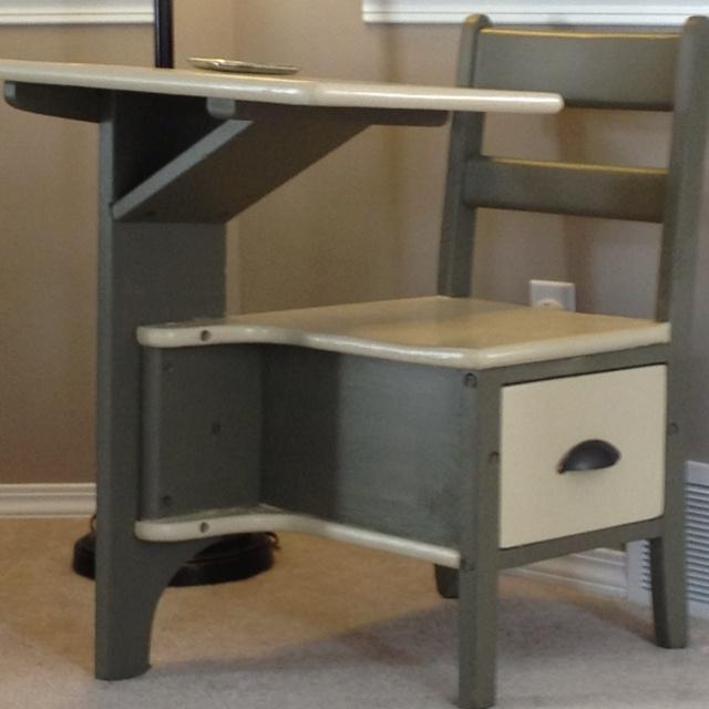 Refinished antique school desk home sweet home pinterest for School desks for home