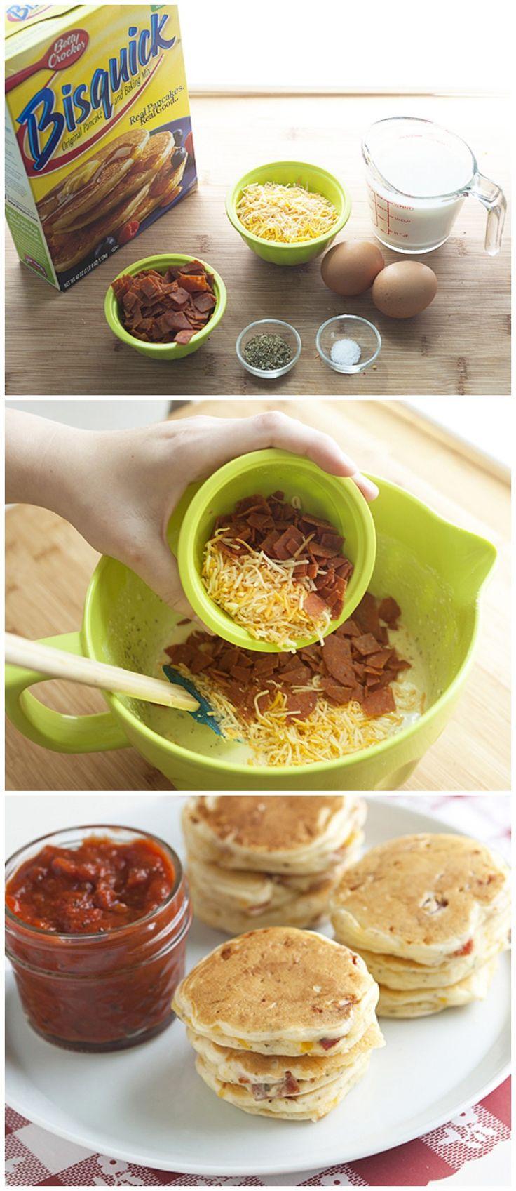 Mini Pizza Pancakes | Recipe