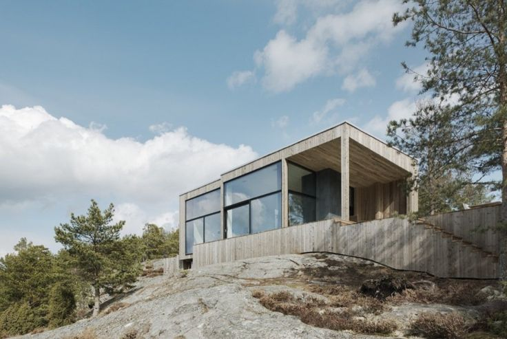 House on a Cliff by Petra Gipp Arkitektur and Katarina Lundeberg