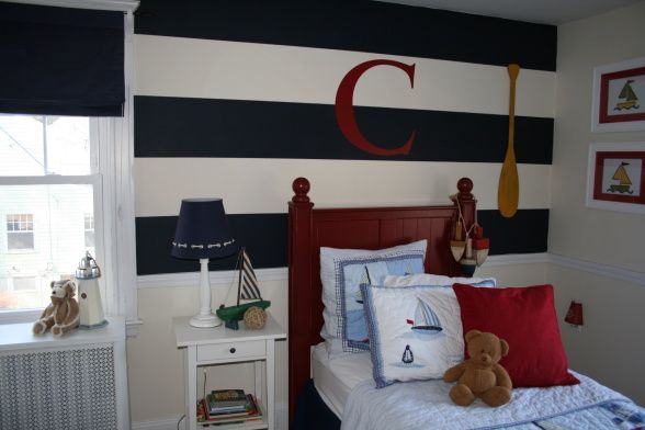 Striped nautical boys kids 39 rooms pinterest for Boys nautical bedroom ideas