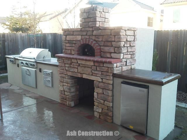 Custom Outdoor Kitchen With Pizza Oven 2 Travel Pinterest