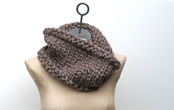 made to order the cobblestone cowl bulky hand knit by amylaroux