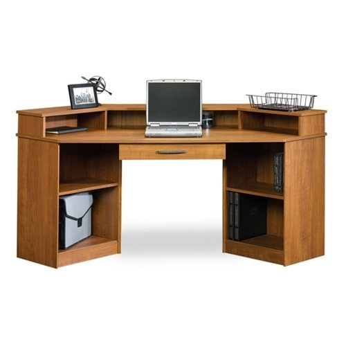 Sauder Camber Hill Corner Desk Sand Pear