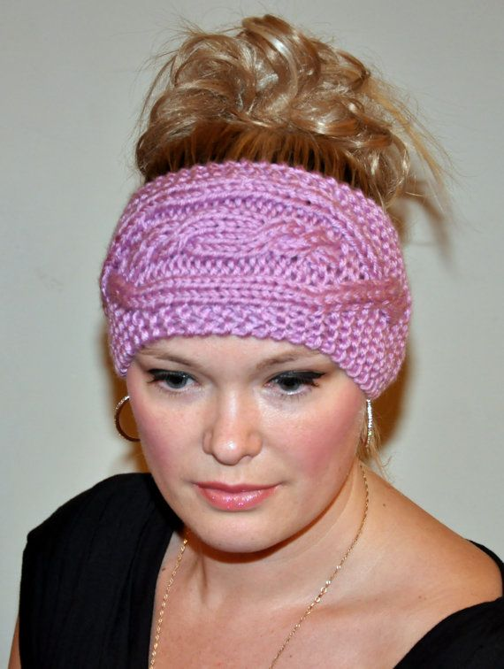 Headband Head wrap Crochet Ear warmer Hair Band Button CHOOSE COLOR P ...