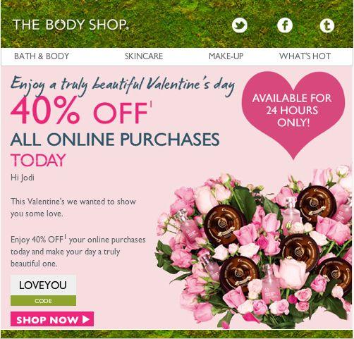 the body shop valentine's day