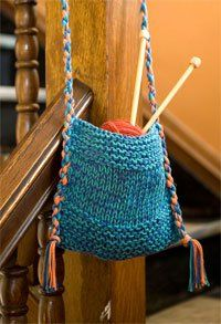 Knitted Bags For Beginners : Beginner bag