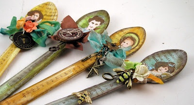 Altered wooden spoons