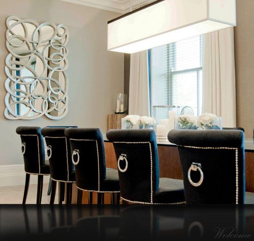 cream leather dining chairs and glass table images