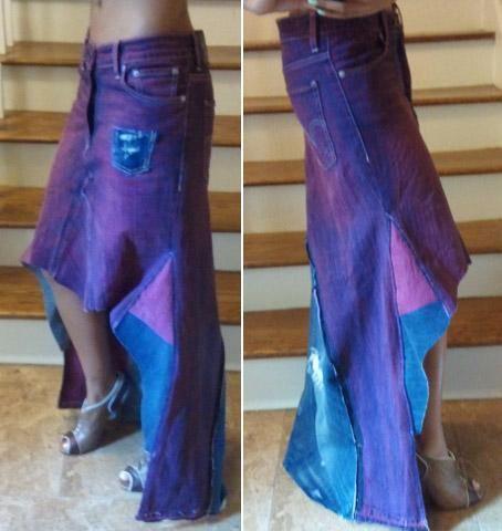 diy tutorial diy skirt from diy denim maxi skirt