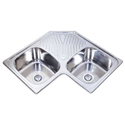 Double Corner Sink : double bowl corner sink home features Pinterest