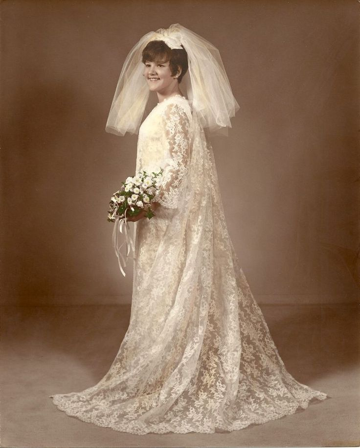 Vintage Custom Made 60s Shift Style Wedding Dress Veil Amp Train From