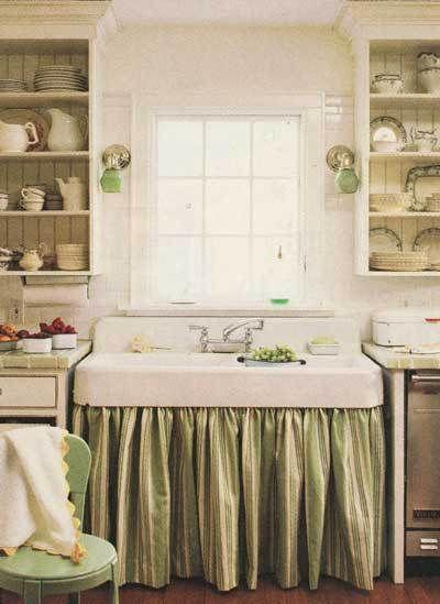 Skirted Sink Kitchen : skirted apron style kitchen sink Kitchens Pinterest