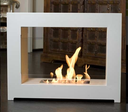 modern stand-alone fireplace  Random Things I Love  Pinterest