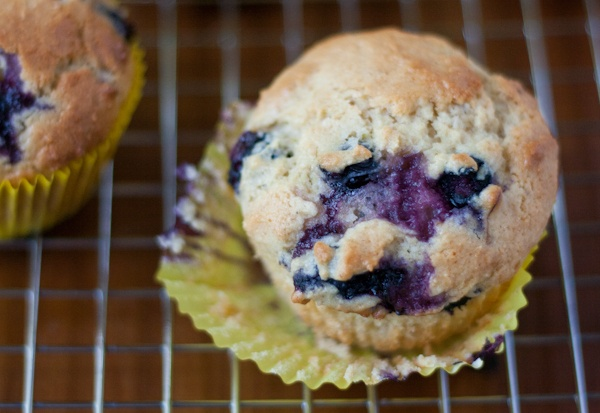 Hovering {Recipe: Blueberry Lime Muffins
