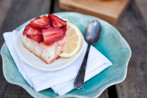 Lemon Strawberry Cheesecake Bar | Amazing Food | Pinterest