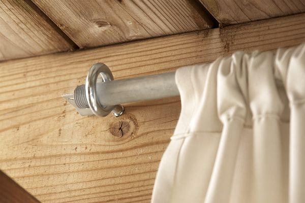 Add a Pretty Privacy Curtain - Lowe's Creative Ideas