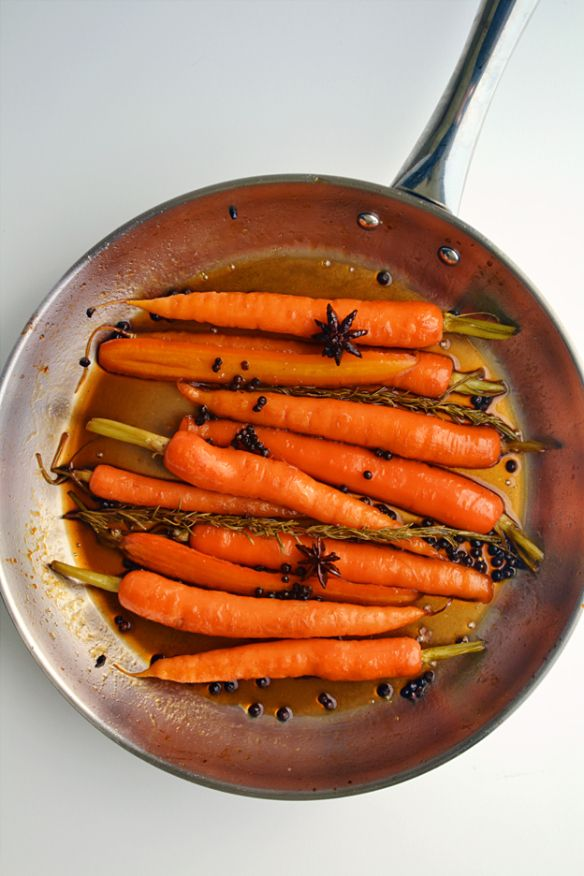 Spiced Glazed Carrots With Sherry And Citrus Recipes — Dishmaps