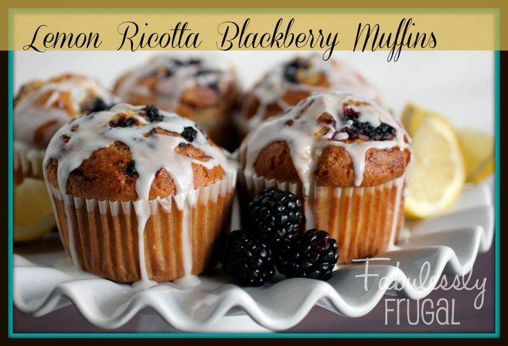 Lemon Ricotta Blackberry Muffins | Recipe
