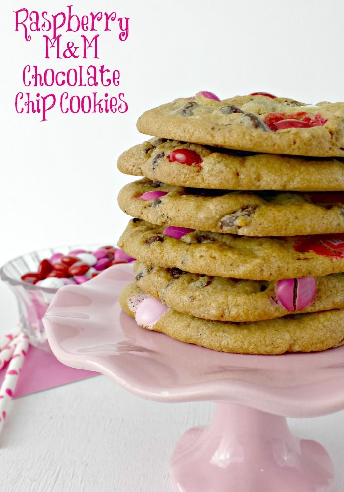 raspberry m amp m chocolate chip cookies recipe for mother s day or ...