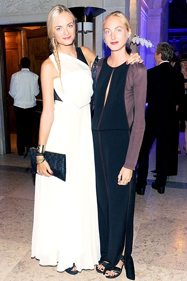 CR Fashion Book Magazine Launch at the Frick Collection - Virginie and Claire Courtin Clarins
