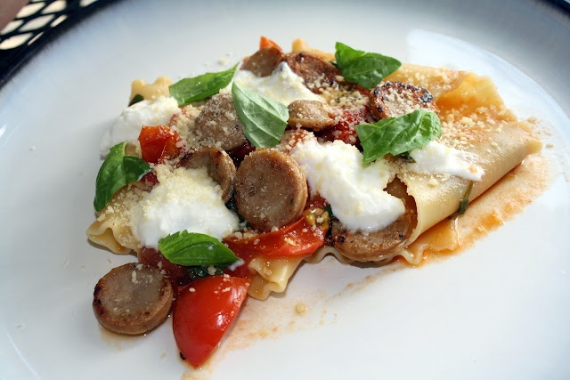 Deconstructed Lasagna - I subbed vine ripe tomatoes cut into 8ths and ...