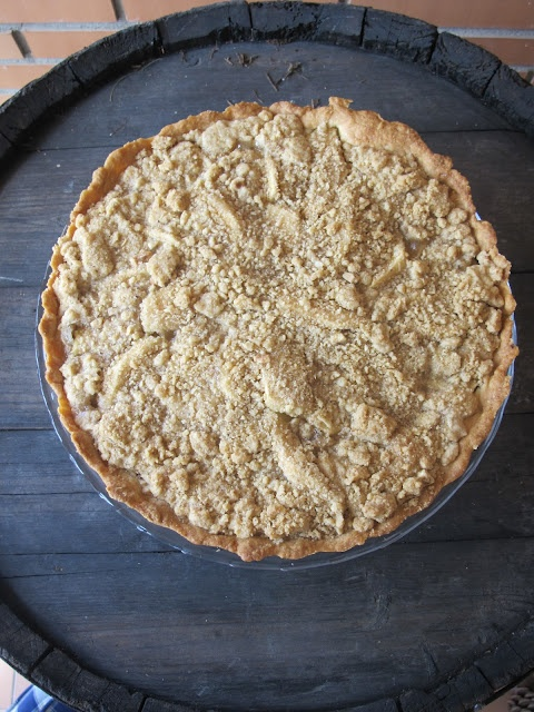 Apple Tart with Hazelnut Brown Sugar Topping