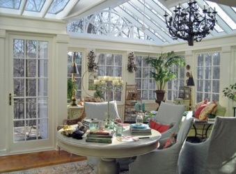 Hobby or Craft Room - This is the perfect solution for those who have projects or hobbies that wind up taking over other rooms of the house. Photo courtesy of Parish Conservatories http://www.poolspaoutdoor.com/blog/entryid/60/sunroom-ideas-6-ways-to-use-your-sunroom.aspx