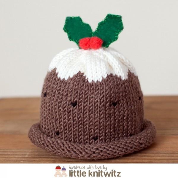 Xmas pudding baby hat Knitting Ideas Pinterest