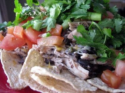 Salsa Chicken and Black Bean Nachos | Food - Dinner | Pinterest