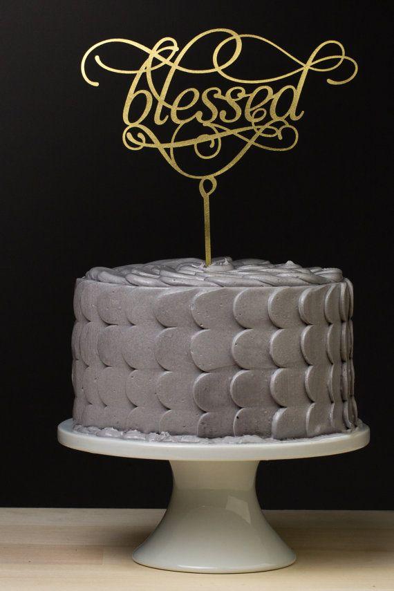 Blessed Wedding Cake Topper