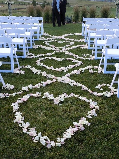Outside Wedding Aisle Decorations : Pin by happywedd on outdoor wedding aisle decor