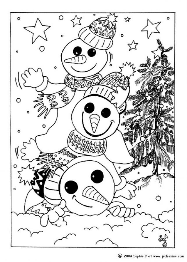 Snowmen coloring page coloring pages pinterest