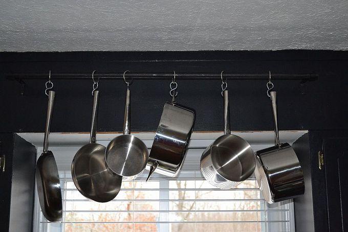 DIY Hanging Pot/pan Rack