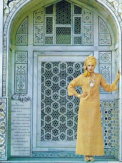 Caftan Magic - Jerry Hall - 1975